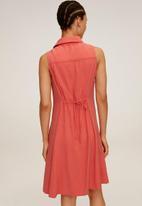 MANGO - Dress bowie - coral