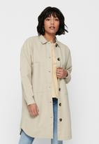 Jacqueline de Yong - Slam worker pocket shirt - beige