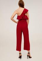 MANGO - Vol jumpsuit - dark red