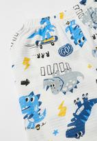 POP CANDY - Boys printed pj set - white & blue