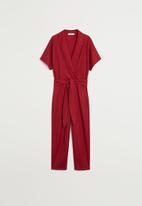 MANGO - Jumpsuit thalia - dark red