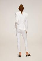 MANGO - Trousers cofi - white