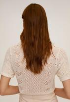 MANGO - Dama polo shirt - light beige