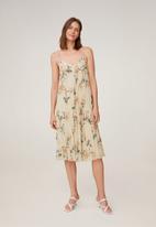MANGO - Dress vainica - neutral