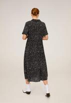 MANGO - Dress phoebe - black