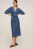 MANGO - Velito dress - blue