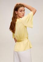 MANGO - Blouse gus - yellow