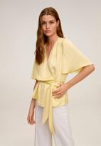 MANGO - Blouse gus - yellow