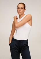 MANGO - Fluido trousers - navy