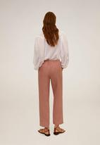 MANGO - Trousers linen - pink