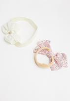 POP CANDY - 2pk bow hairband - pink