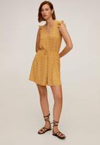 MANGO - Dress gala - mustard