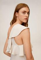 MANGO - Vol jumpsuit - white