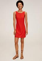 MANGO - Dress coco - red