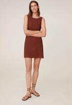 MANGO - Dress coco - brown