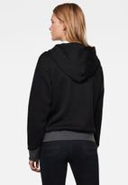 G-Star RAW - Premium core hoodie zip thru sweat long sleeve - black