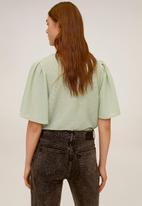 MANGO - T-shirt canilla - green