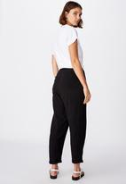 Cotton On - The weekend pant - black