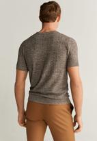 MANGO - Camilo sweater - brown