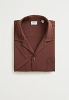MANGO - Bonheur shirt - brown