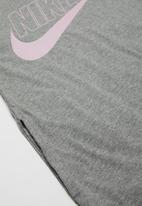 Nike - G nsw futura T-shirt dress - grey & pink