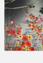 Superbalist - Floral print neckerchief - black & grey
