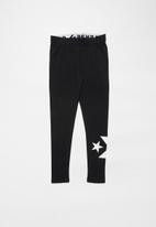 Converse - Converse wordmark knit leggings - black