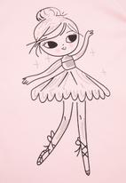 POP CANDY - Girls ballerina tee & shorts set - pink