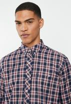 Ben Sherman - Check long sleeve shirt - navy