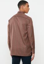 Ben Sherman - Check long sleeve shirt - red & brown