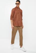 Ben Sherman - Check ls shirt - orange