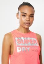 Superdry. - Streetsport crop tank - pink