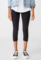 Cotton On - 3/4 high waisted dylan legging - black