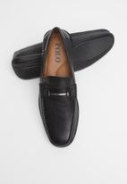POLO - Mens Joey pin punch trim vamp loafer - black