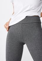 Cotton On - 3/4 high waisted dylan legging - charcoal marle