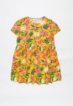 Superbalist - Girls printed woven dress - yellow
