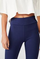 Cotton On - 3/4 high waisted Dylan legging - blue