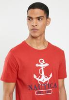 Nautica - Anchor tee - red
