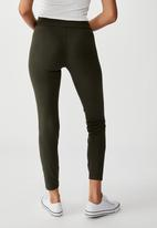 Cotton On - High waisted dylan legging - green