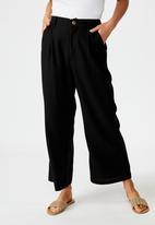Cotton On - Cindy wide leg pant - black