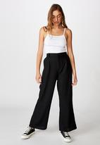 Cotton On - Pleat front drapey pant - black