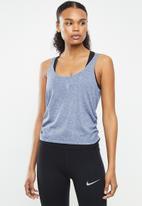 Nike - Yoga ruched tank - blue