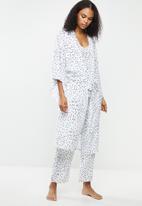 Superbalist - Midi robe - white & black
