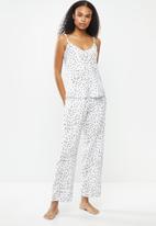 Superbalist - Sleep cami & pants set - white & black