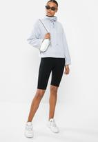 Missguided - High neck tie detail long sleeve sweat - grey