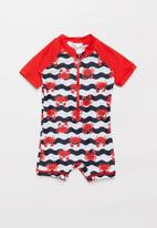 POP CANDY - Baby boys printed swimsuit - red