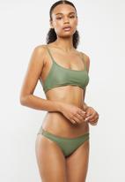 Cotton On - Scoop crop bralette bikini set - khaki