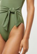 BeachCult - Amara one piece - green