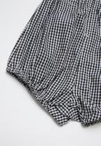 POP CANDY - Girls elastic waist shorts - black/white