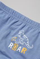 POP CANDY - Boys 3 pack printed underwear set - blue & white